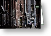 Street Greeting Cards - Tryst Greeting Card by Andrew Paranavitana