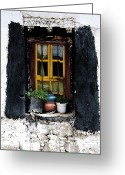 Tsedang Greeting Cards - Tsedang Window Greeting Card by Kate McKenna