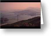 Hong Kong Greeting Cards - Tsing Ma Bridge And Ting Kau Bridge In Hong Kong Greeting Card by Yiu Yu Hoi