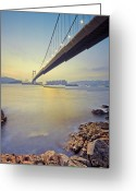 Ma Greeting Cards - Tsing Ma Bridge Greeting Card by Andi Andreas