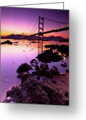 Ma Greeting Cards - Tsing Ma Bridge Greeting Card by Kenny Chow Kmdd