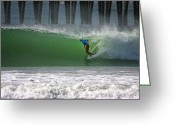 San Diego Greeting Cards - Tube Ride Greeting Card by Larry Marshall