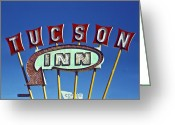 Vintage Signs Greeting Cards - Tucson Inn Greeting Card by Matthew Bamberg