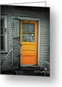 Screen Doors Greeting Cards - Tuff Times Greeting Card by Perry Webster