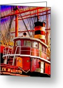 Ship Greeting Cards - Tugboat Helen McAllister Greeting Card by Chris Lord