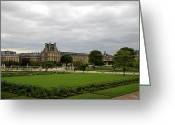 Tuileries Greeting Cards - Tuileries Gardens 3 Greeting Card by Andrew Fare