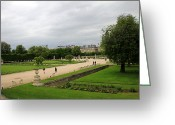 Tuileries Greeting Cards - Tuileries Gardens 4 Greeting Card by Andrew Fare