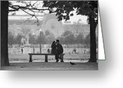 Tuileries Greeting Cards - Tuileries Kiss Greeting Card by Hans Mauli