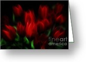 Postwork Greeting Cards - Tulip Essence Greeting Card by Jutta Maria Pusl