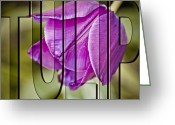 Flower Show Greeting Cards - Tulip Greeting Card by Trish Tritz