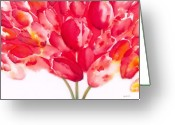 Carter Greeting Cards - Tulips are People II Greeting Card by Jerome Lawrence