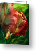 Flower Art Greeting Cards - Tulips - Colors Of Paradise Greeting Card by Carol Cavalaris