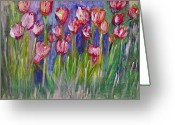 Designers Choice Painting Greeting Cards - Tulips  Greeting Card by Don  Wright