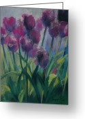 Tulips Pastels Greeting Cards - Tulips Greeting Card by Synnove Pettersen