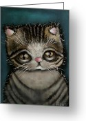 Kitty Greeting Cards - Tully Greeting Card by  Abril Andrade Griffith