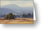 Signed Greeting Cards - Tumut Landscape Greeting Card by Graham Gercken
