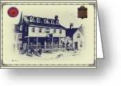 Bill Cannon Mixed Media Greeting Cards - Tun Tavern - Birthplace of the Marine Corps Greeting Card by Bill Cannon