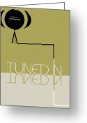 Listening Greeting Cards - Tuned in Poster Greeting Card by Irina  March
