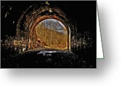 History Pyrography Greeting Cards - Tunnel of Gold Greeting Card by Shirley Tinkham