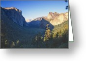 Tunnel View Greeting Cards - Tunnel View of the Yosemite Valley Greeting Card by George Oze