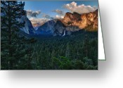 Tunnel View Greeting Cards - Tunnel View Sunset Greeting Card by Rick Berk