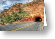 Black Mesa Greeting Cards - Tunnel Vision Greeting Card by Stephen Campbell