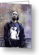 Side  Greeting Cards - Tupac Shakur Greeting Card by Raymond L Warfield jr