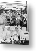 1950s Fashion Photo Greeting Cards - TUPPERWARE PARTY, 1950s Greeting Card by Granger
