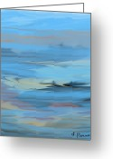 Storm Prints Greeting Cards - Turbulence Greeting Card by D Perry