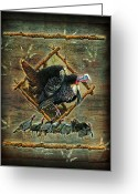 Lodge Greeting Cards - Turkey Lodge Greeting Card by JQ Licensing