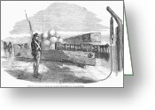 Cannonball Greeting Cards - Turkish Cannon, 1853 Greeting Card by Granger