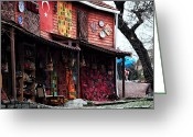 Rugs Greeting Cards - Turkish Goods Greeting Card by John Rizzuto