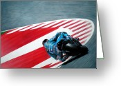 Motogp Greeting Cards - turn 10 Barcelona Greeting Card by Raoul Alburg