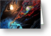 Psychic Greeting Cards - Turn The Light On Greeting Card by Steve Griffith