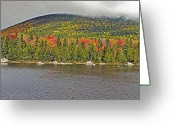 Baxter Park Greeting Cards - Turner Mountain from Sandy Stream Pond during fall in Baxter State Park Maine Greeting Card by Brendan Reals