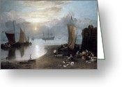 Romanticism Photo Greeting Cards - TURNER: SUN RISING c1807 Greeting Card by Granger