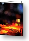 Nightclub Greeting Cards - Turntable And Club Lights Greeting Card by Vilhelm Sjostrom