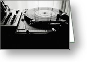 Arts Culture And Entertainment Greeting Cards - Turntable Greeting Card by So1