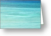 Caribbean Sea Greeting Cards - Turquoise Blue Carribean Water Greeting Card by James Forte