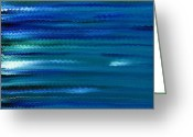 Hakon Greeting Cards - Turquoise Waves Greeting Card by Hakon Soreide