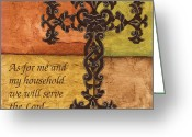 Inspiration Greeting Cards - Tuscan Cross Greeting Card by Debbie DeWitt