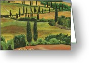 Tuscan Greeting Cards - Tuscan Dream 1 Greeting Card by Debbie DeWitt