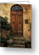 Tuscan Greeting Cards - Tuscan Entrance Greeting Card by Andrew Soundarajan