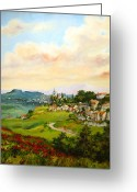 Wild Greeting Cards - Tuscan landscape Greeting Card by Tigran Ghulyan