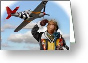 Tuskegee Greeting Cards - Tuskegee Airman Greeting Card by Tom Griffithe