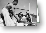 Tuskegee Greeting Cards - TUSKEGEE AIRMEN, c1943 Greeting Card by Granger