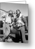 Pilot Greeting Cards - Tuskegee Airmen Greeting Card by War Is Hell Store