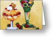 Fine Art - Still Lifes Greeting Cards - Tutti Frutti Greeting Card by Enzie Shahmiri
