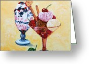 Fine Art - Still Lifes Greeting Cards - Tutti Frutti II Greeting Card by Enzie Shahmiri