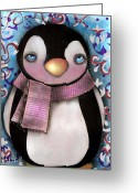 Eyes.fantasy Greeting Cards - Tuxedo  Greeting Card by  Abril Andrade Griffith